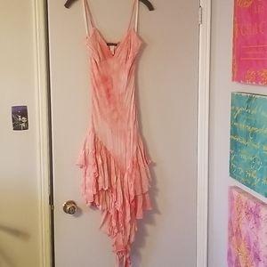 Coral Peach Salsa Dress